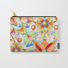 Suzani Auspicious Waves Carry-All Pouch