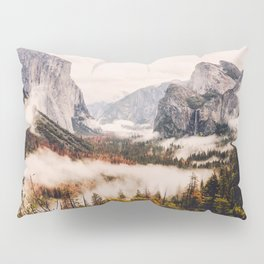 Amazing Yosemite California Forest Waterfall Canyon Pillow Sham