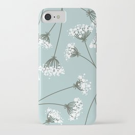 Queen Anne's Lace Floral Pattern iPhone Case