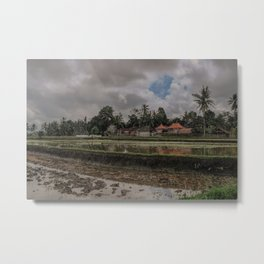 Flooded rice fields in Bali Indonesia Metal Print