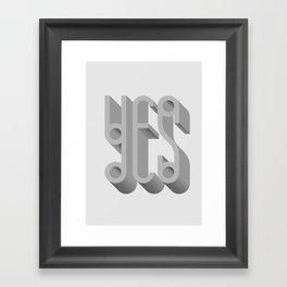 MYMU Yes Framed Art Print