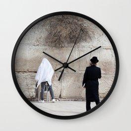Wailing Wall in Israel Wall Clock