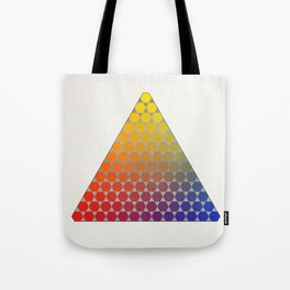 Lichtenberg-Mayer Colour Triangle recoloured remake, based on Mayer's original idea and illustration Tote Bag