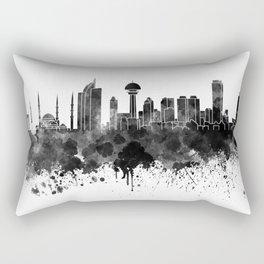 Ankara skyline in black watercolor Rectangular Pillow