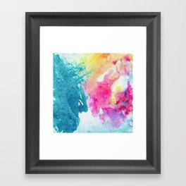 Watercolor Splashes Framed Art Print