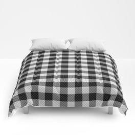 Sleepy Black and White Plaid Comforters