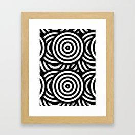 Retro Black White Circles Op Art Framed Art Print