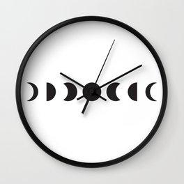Moon run Wall Clock