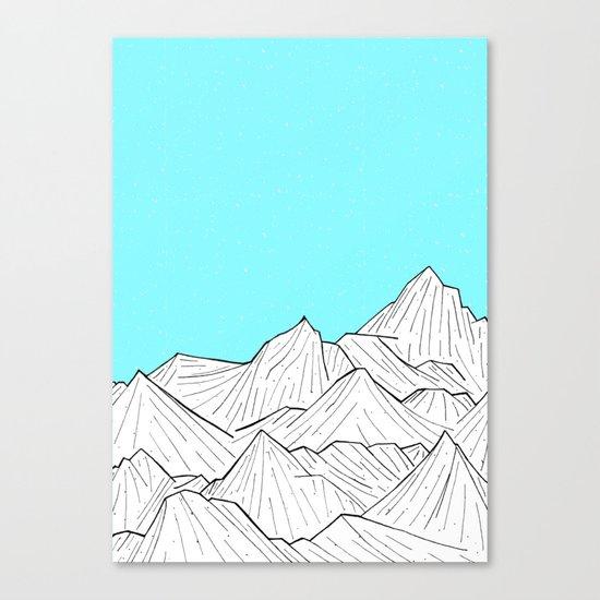 Glacier Mounts Canvas Print