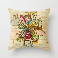 Notebook World Throw Pillow