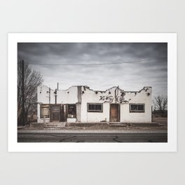 Dilapidated Building In The Ghost Town Of Valentine, Texas Art Print