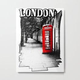 Classic London - Red Phone Box Metal Print