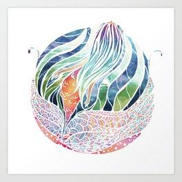 Mermaid ascending Art Print