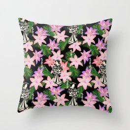 JAPANESE tropical Throw Pillow