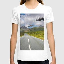 Lancaster Bomber in Snowdonia T-shirt