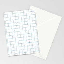broken lines grid in light blue Stationery Cards