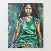 jasmine Canvas Prints featuring Jasmine by Juliette Caron