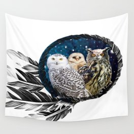 Owls Dream Wall Tapestry