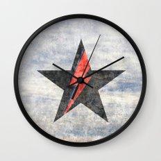 BlackStarMan (waiting in the sky) Wall Clock