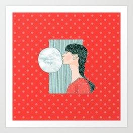 Blow your stress away Art Print