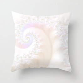 Ocean Treasure -- Mother of Pearls Mandelbrot Throw Pillow