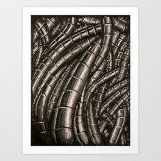 metal cables Art Print