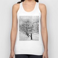 blankets Tank Tops featuring Blankets of Snow by Bella Blue Photography