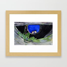 The Well of Wishes, an illustration by Ines Zgonc Framed Art Print