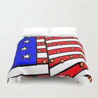 american Duvet Covers featuring American by Mariana