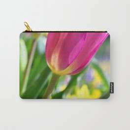 Pink Tulip in Spring Carry-All Pouch