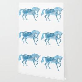 Dancing Blue Unicorn Wallpaper