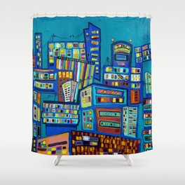 The Lost Art of Communication Shower Curtain