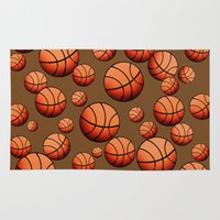 basketball Area & Throw Rugs featuring Basketball by joanfriends
