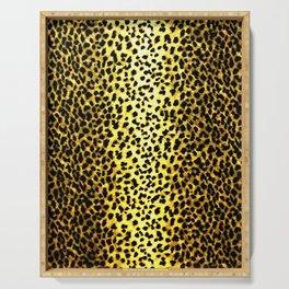 Leopard Print Animal Wallpaper Serving Tray