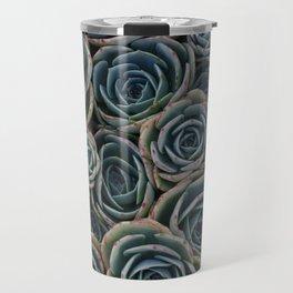 Teal Rosettes Travel Mug