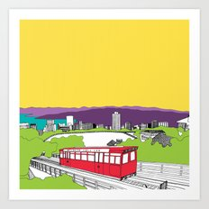 Wellington, New Zealand Art Print