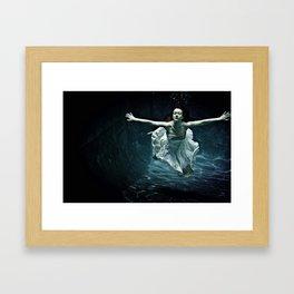 abyss of the disheartened : girl I Framed Art Print