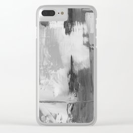Paint (Black and White) Clear iPhone Case