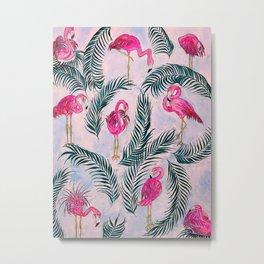 Pink Flamingoes Metal Print