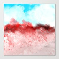 minerals Canvas Prints featuring Pink Minerals by Jessielee