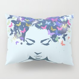 Woman Butterfly Pillow Sham