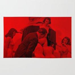 Salvador Dali with Women forming skull Setup (Photographic Art) Rug