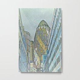The Gherkin London Metal Print
