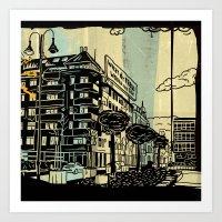 freud Art Prints featuring Freud II. by Zsolt Vidak