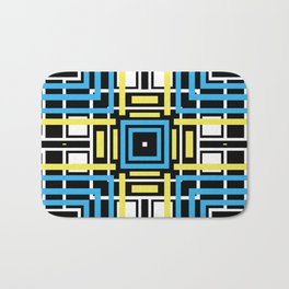 geometric art 2 Bath Mat