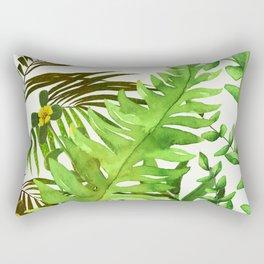 Watercolor Plants Rectangular Pillow