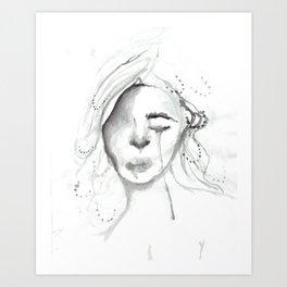 sad gurl Art Print
