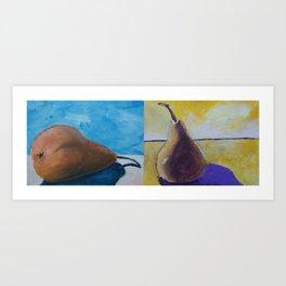 Pear Studies Combined #Christmas #Fine Art #Painting Art Print
