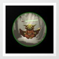 yoda Art Prints featuring Yoda by Marc Vuletich