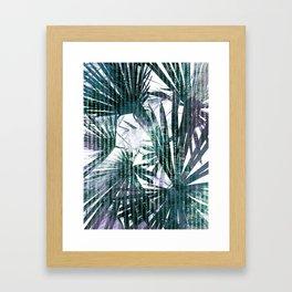 Fan Palms Theme Framed Art Print